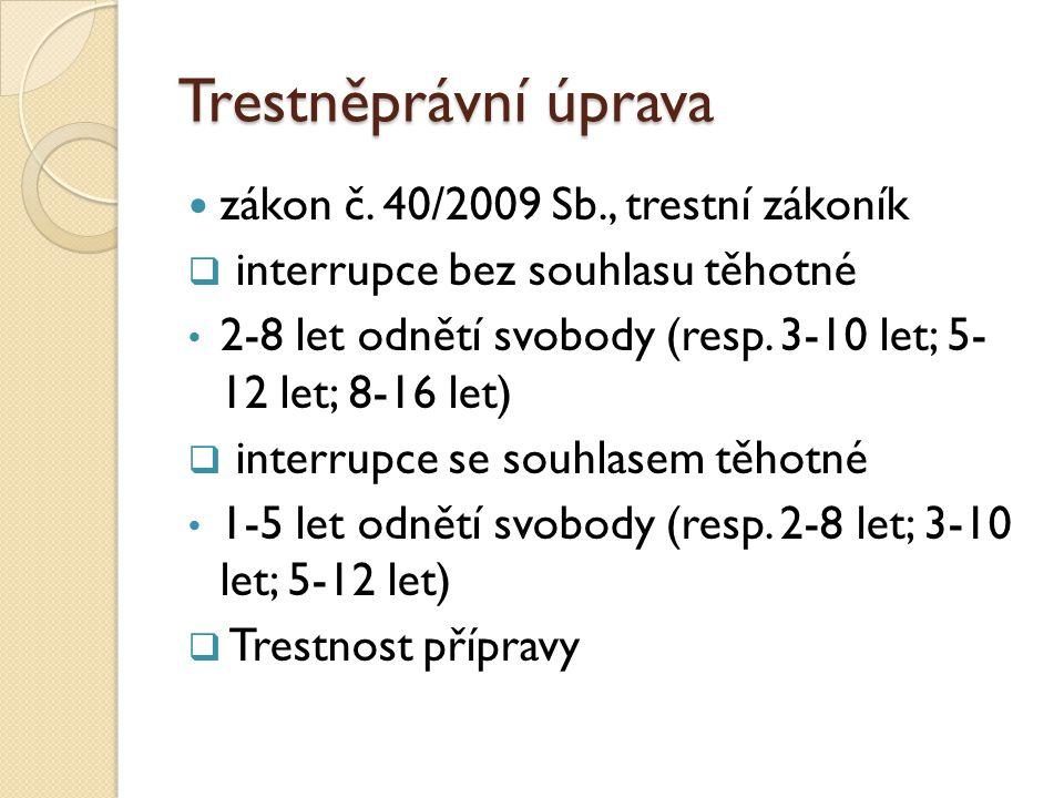 Trestněprávní úprava  zákon č.