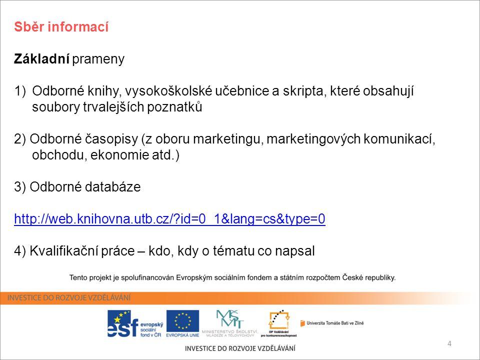Vyhledávání informací Vyhledávání informací Workshop O.