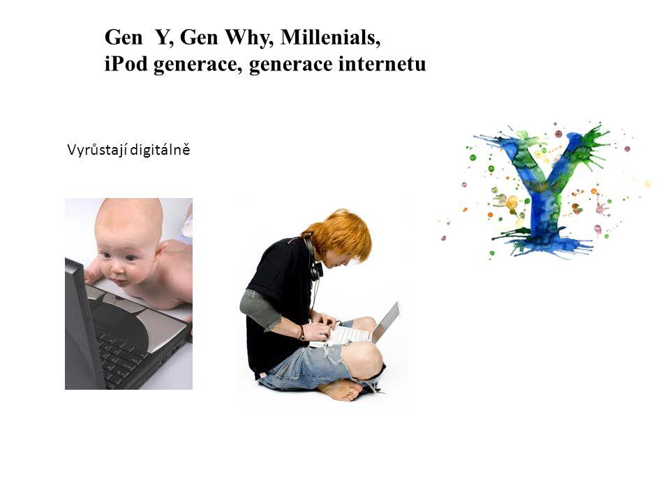 Vyrůstají digitálně Gen Y, Gen Why, Millenials, iPod generace, generace internetu