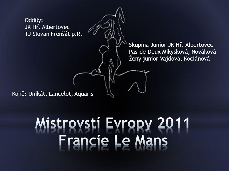 Skupiny Junior: JK Hř.Albertovec Ženy Junior: Eliška Kociánová, TJ Slovan Frenštát p.R.