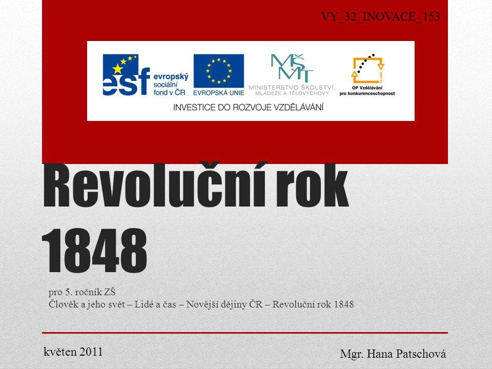 Revoluční rok 1848 pro 5.