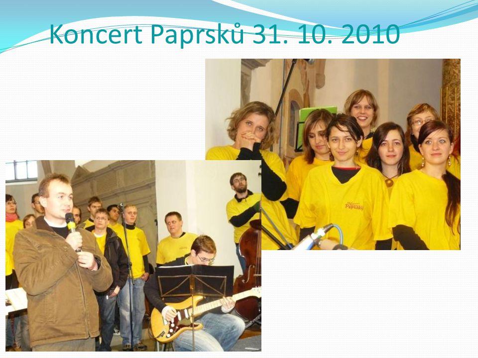 Koncert Paprsků 31. 10. 2010