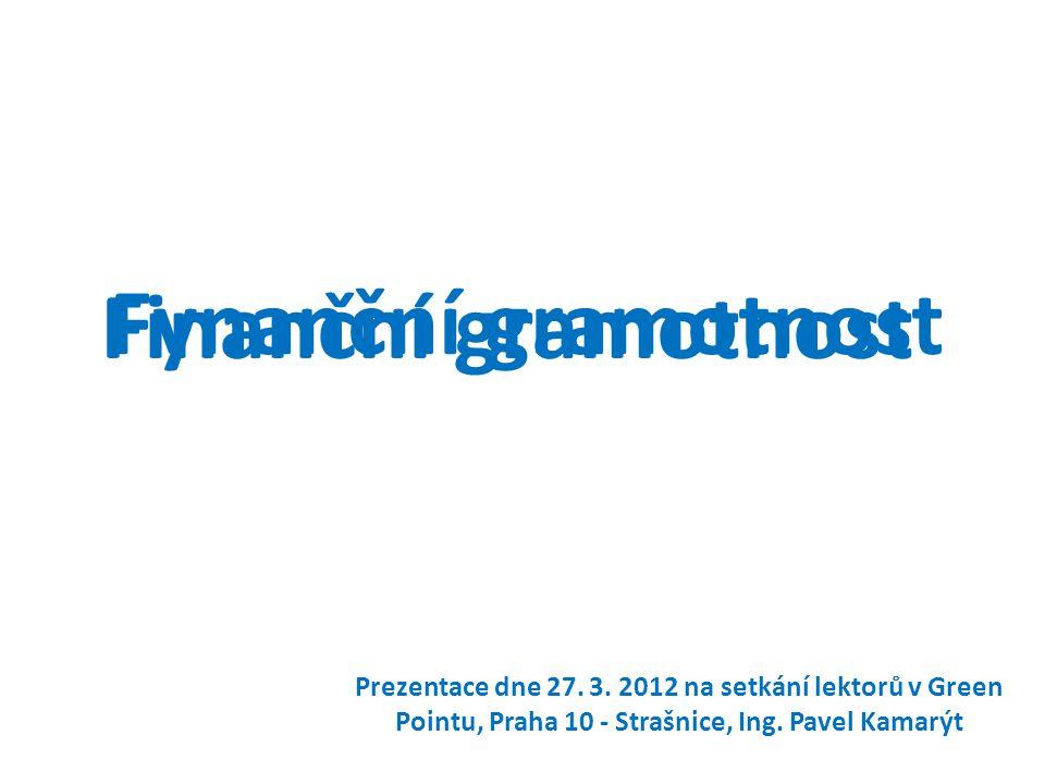 Fynanční gramotnost Prezentace dne 27.3.