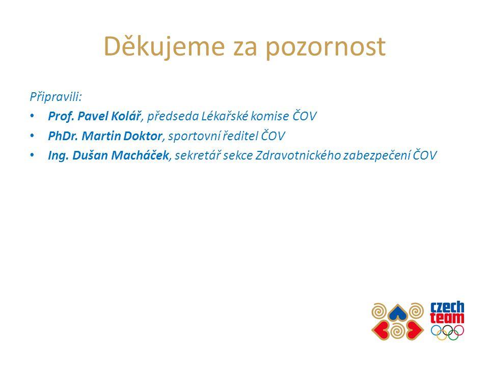 Děkujeme za pozornost Připravili: • Prof. Pavel Kolář, předseda Lékařské komise ČOV • PhDr.