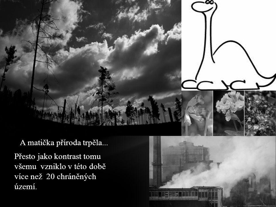 A matička příroda trpěla... Přesto jako kontrast tomu všemu vzniklo v této době více než 20 chráněných území.