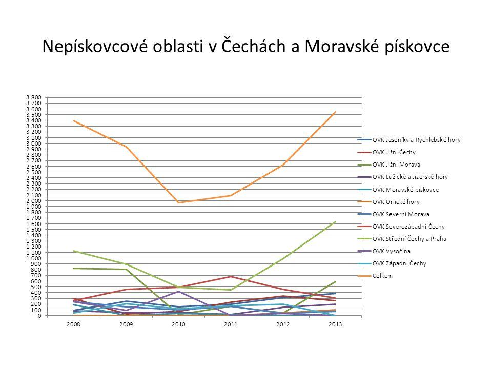 Nepískovcové oblasti v Čechách a Moravské pískovce