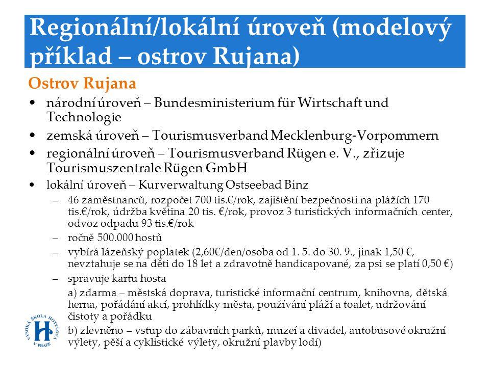 Regionální/lokální úroveň (modelový příklad – ostrov Rujana) Ostrov Rujana •národní úroveň – Bundesministerium für Wirtschaft und Technologie •zemská