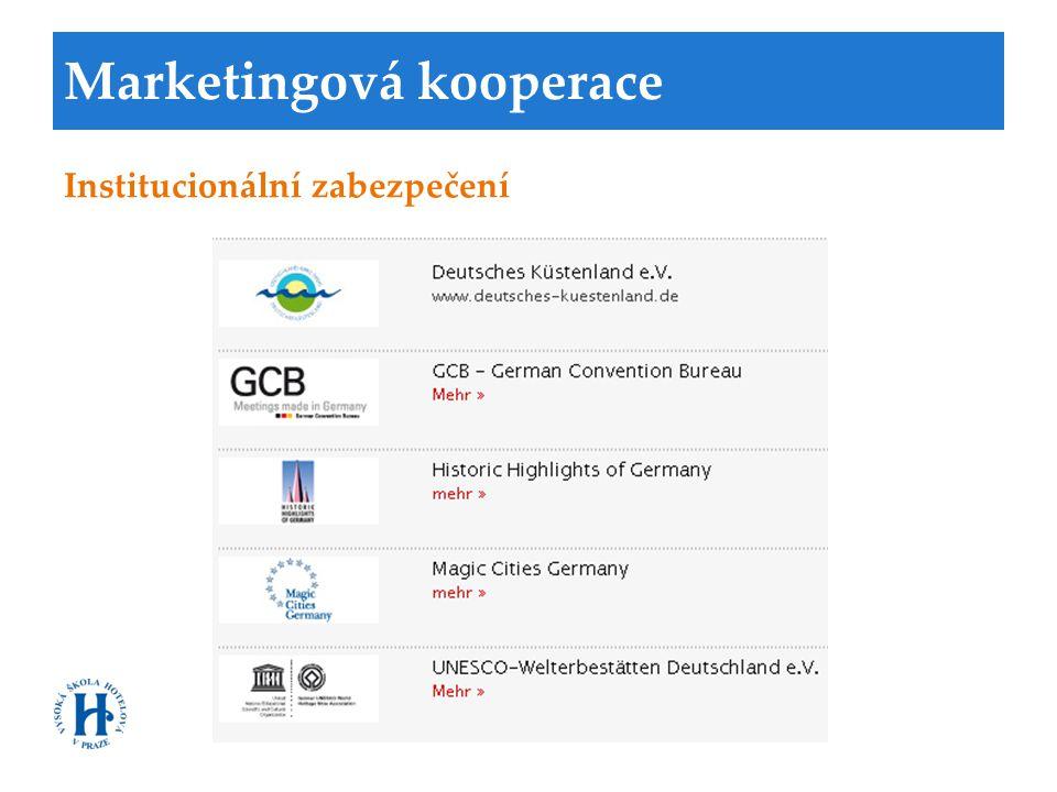 Marketingová kooperace Institucionální zabezpečení