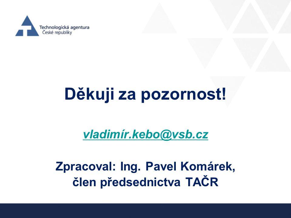 Děkuji za pozornost! vladimír.kebo@vsb.cz Zpracoval: Ing. Pavel Komárek, člen předsednictva TAČR
