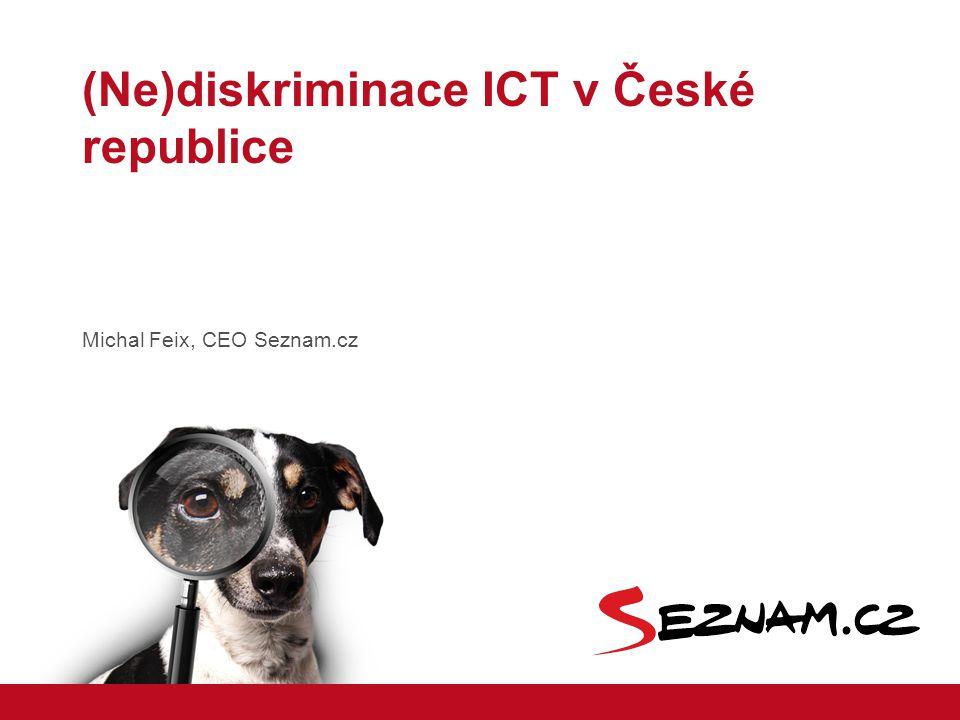 Michal Feix, CEO Seznam.cz (Ne)diskriminace ICT v České republice