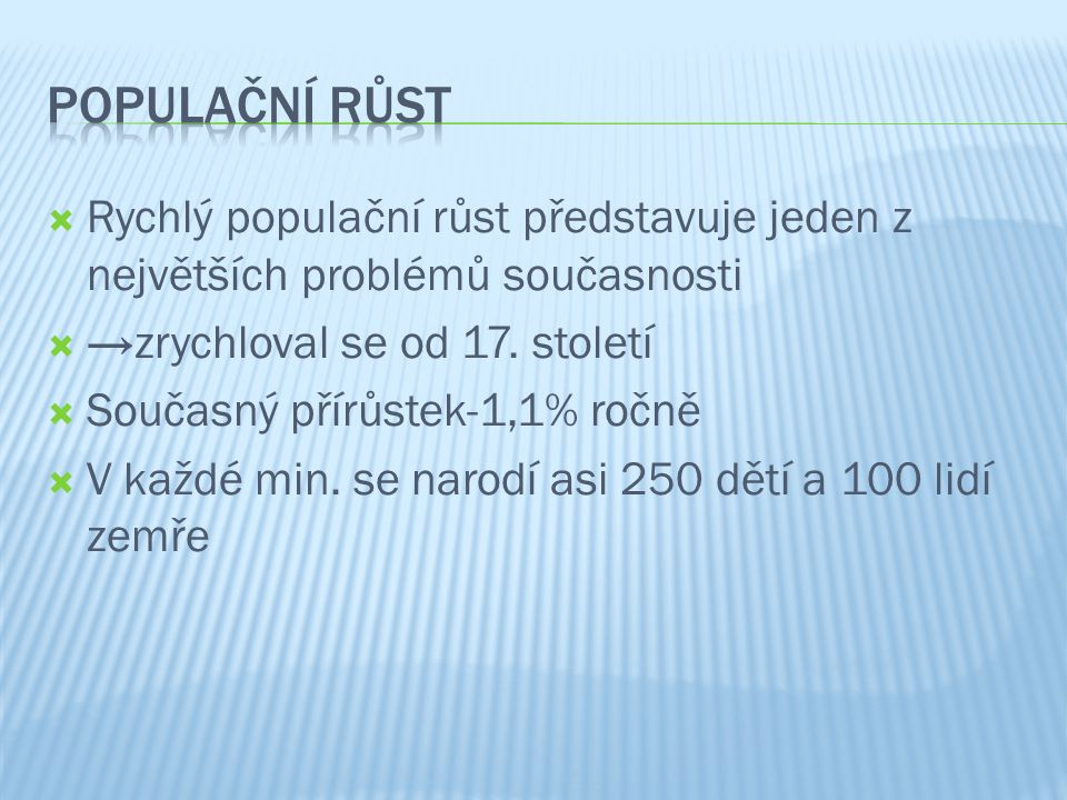 Hladomor-Štěpánka Cvrkalová Růst počtu obyvatel-Terezie Nováčková Prezentace, grafy, obrázky-Magdaléna Šímová