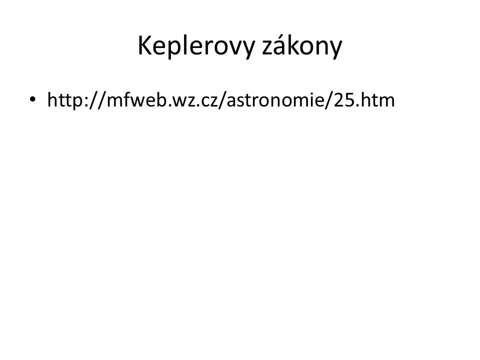 Keplerovy zákony • http://mfweb.wz.cz/astronomie/25.htm