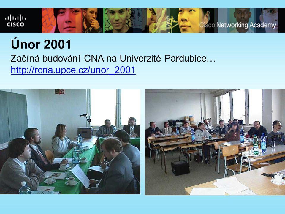 Únor 2001 Začíná budování CNA na Univerzitě Pardubice… http://rcna.upce.cz/unor_2001