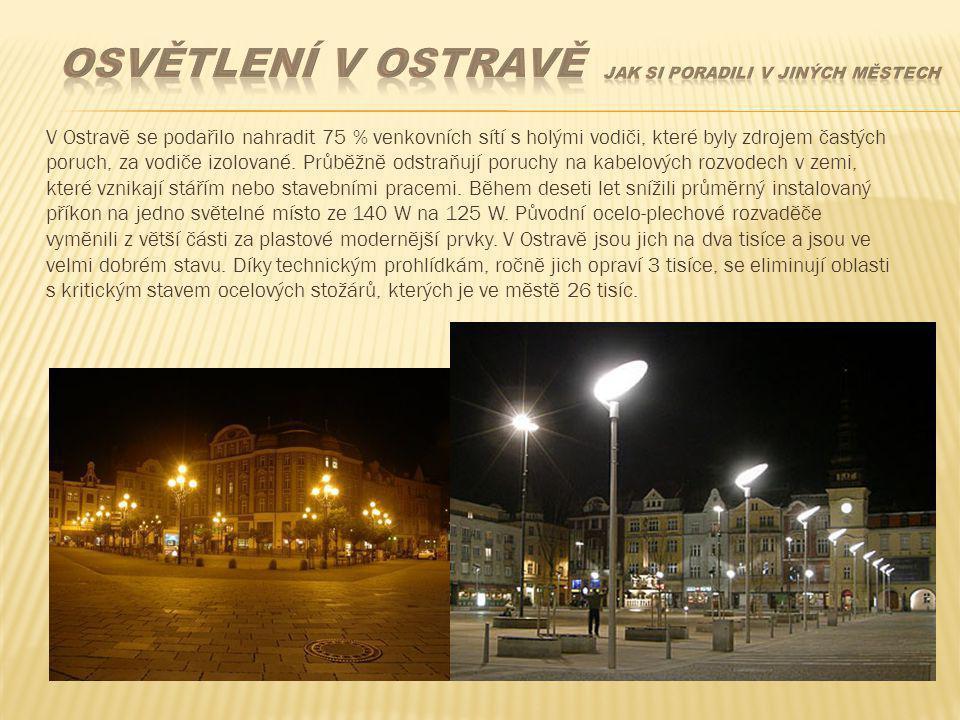 V Ostravě se podařilo nahradit 75 % venkovních sítí s holými vodiči, které byly zdrojem častých poruch, za vodiče izolované. Průběžně odstraňují poruc