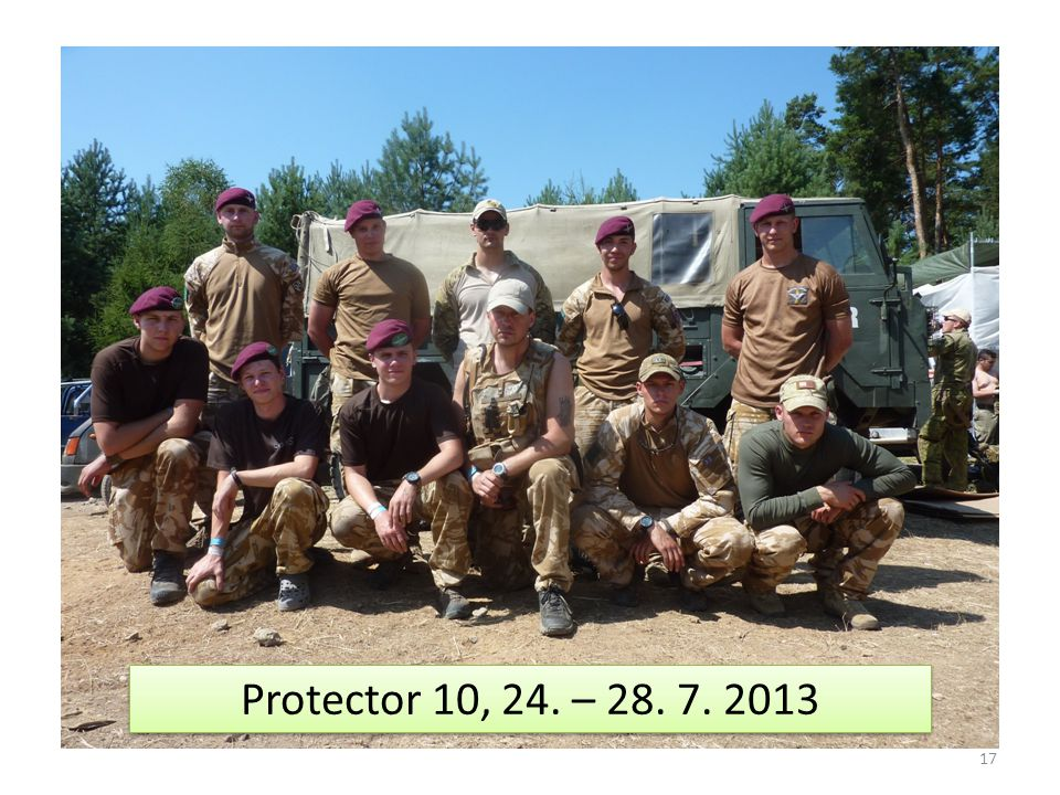17 Protector 10, 24. – 28. 7. 2013
