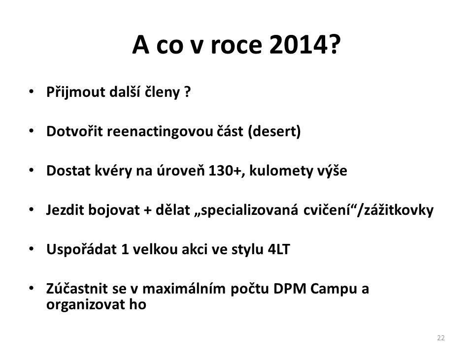 A co v roce 2014. • Přijmout další členy .