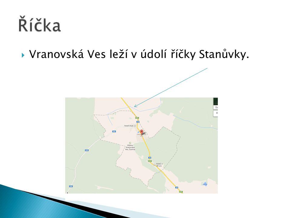 VVranovská Ves leží v údolí říčky Stanůvky.