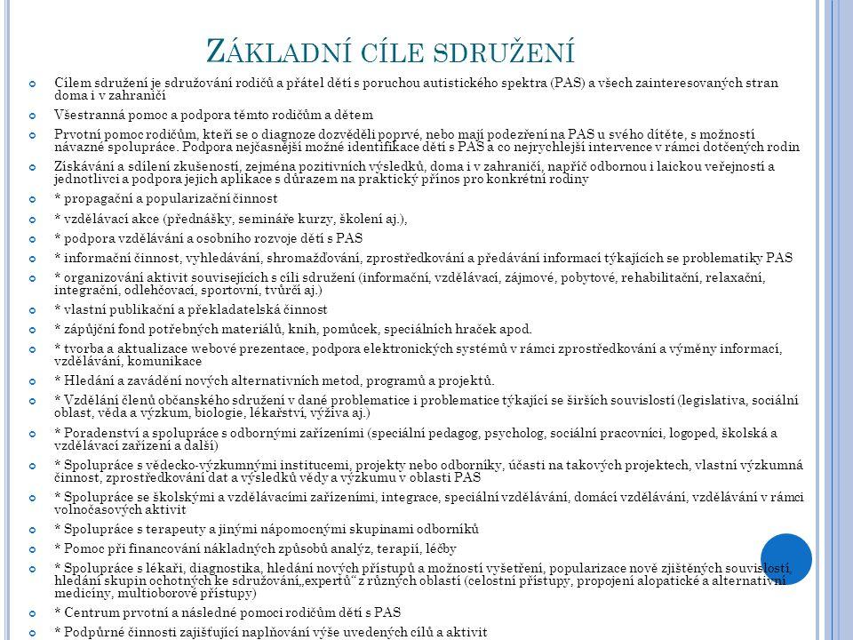 Č INNOST OBČANSKÉHO SDRUŽENÍ ABC V ROCE 2012 Jelikož naše o.s.