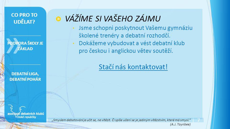 Díky za pozonost.Vojtěch Černý (trenér) +420 775 064 465 Mgr.