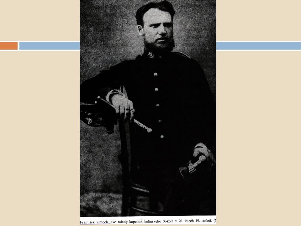 Dechová hudba Čeští kapelníci a skladatelé dechové hudby František Kmoch (1848-1912) skladatel a kapelník sokolské hudby v Kolíně založil a vedl vlastní orchestr – dodnes působí - přes 230 skladeb: - 121 pochodů, 25 polek, 20 kvapíků, 10 valčíků ad.