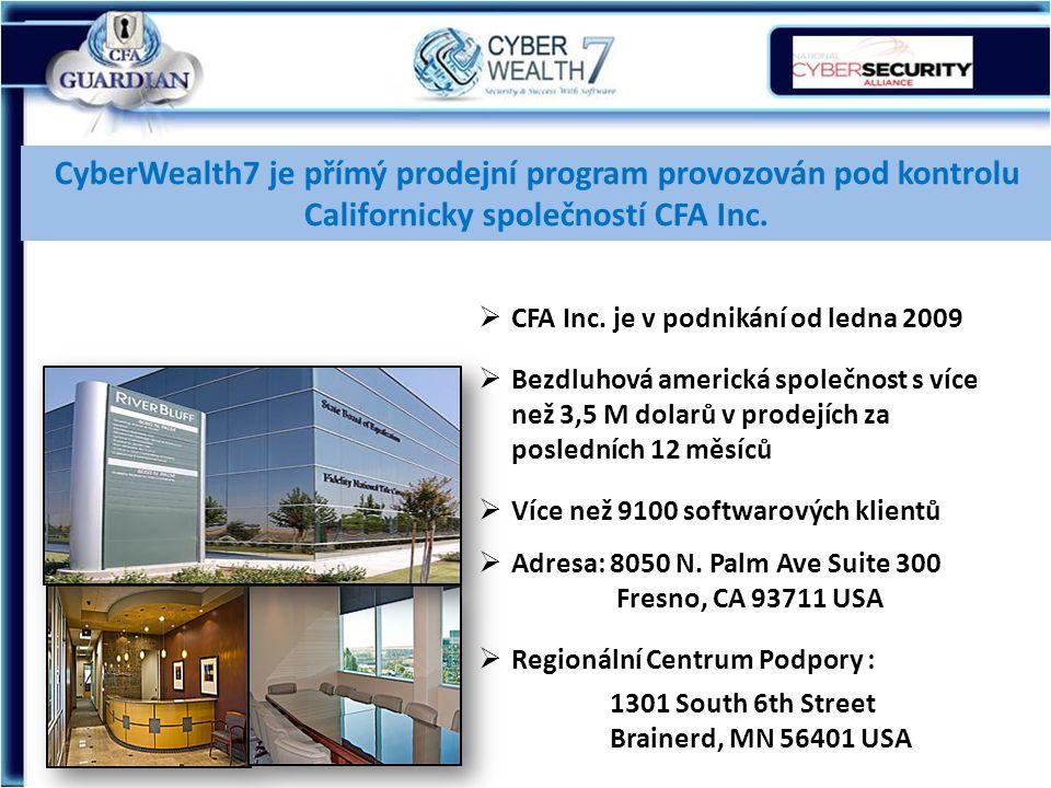 CyberWealth7 je přímý prodejní program provozován pod kontrolu Californicky společností CFA Inc.