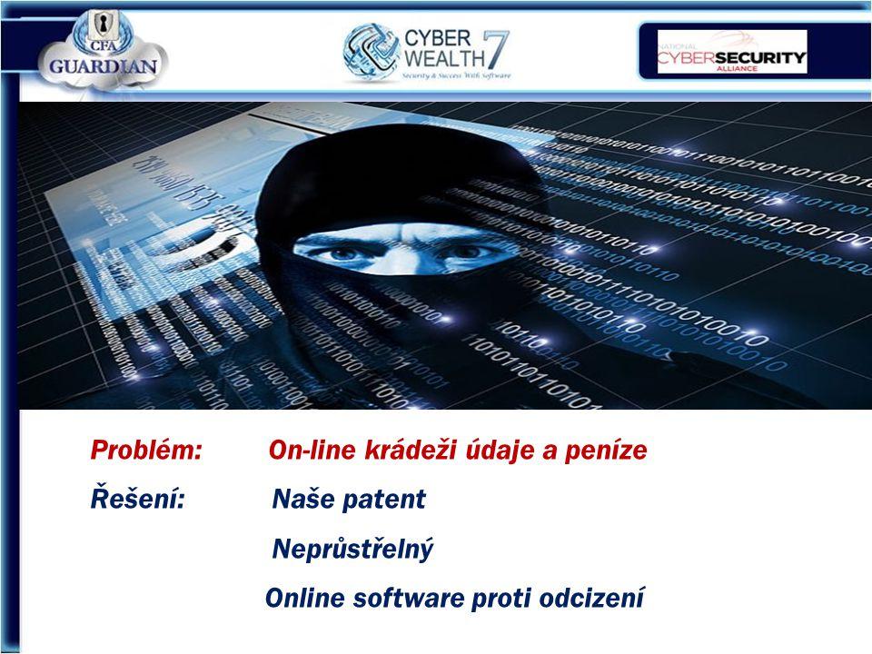 Problém: On-line krádeži údaje a peníze Řešení: Naše patent Neprůstřelný Online software proti odcizení