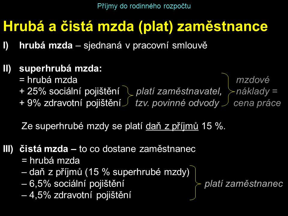 Příjmy do rodinného rozpočtu Autor: Mgr.Pavel Papežík, vytvořeno v 2013, určeno pro 9.