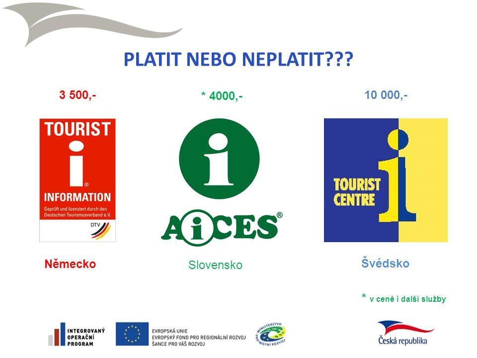 Německo Švédsko Slovensko 3 500,- * 4000,- 10 000,- * v ceně i další služby PLATIT NEBO NEPLATIT