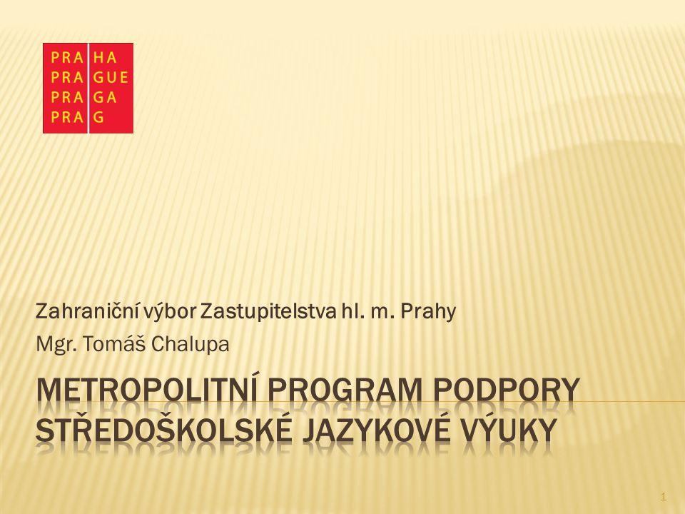 Zahraniční výbor Zastupitelstva hl. m. Prahy Mgr. Tomáš Chalupa 1