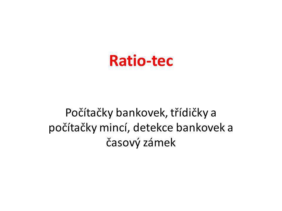 Produkty Počítačky bankovek: -Rapidcount S20 -Rapidcount T100/200/250 Třídičky mincí: -Coincounter/sorter TC220 Detekce bankovek: -Soldi 460 -Detector Pen RP 50 Časový zámek: -POS Safe RT500/700/750/850 Váhy bankovek a mincí: -RS1000