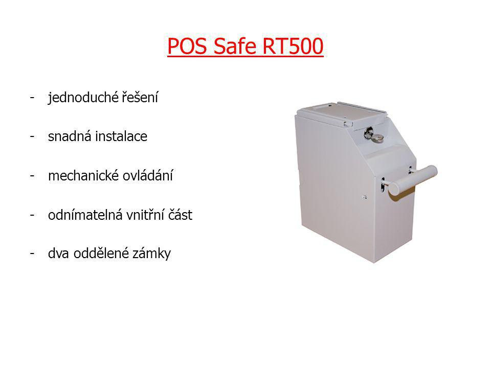 POS Safe RT500 -jednoduché řešení -snadná instalace -mechanické ovládání -odnímatelná vnitřní část -dva oddělené zámky