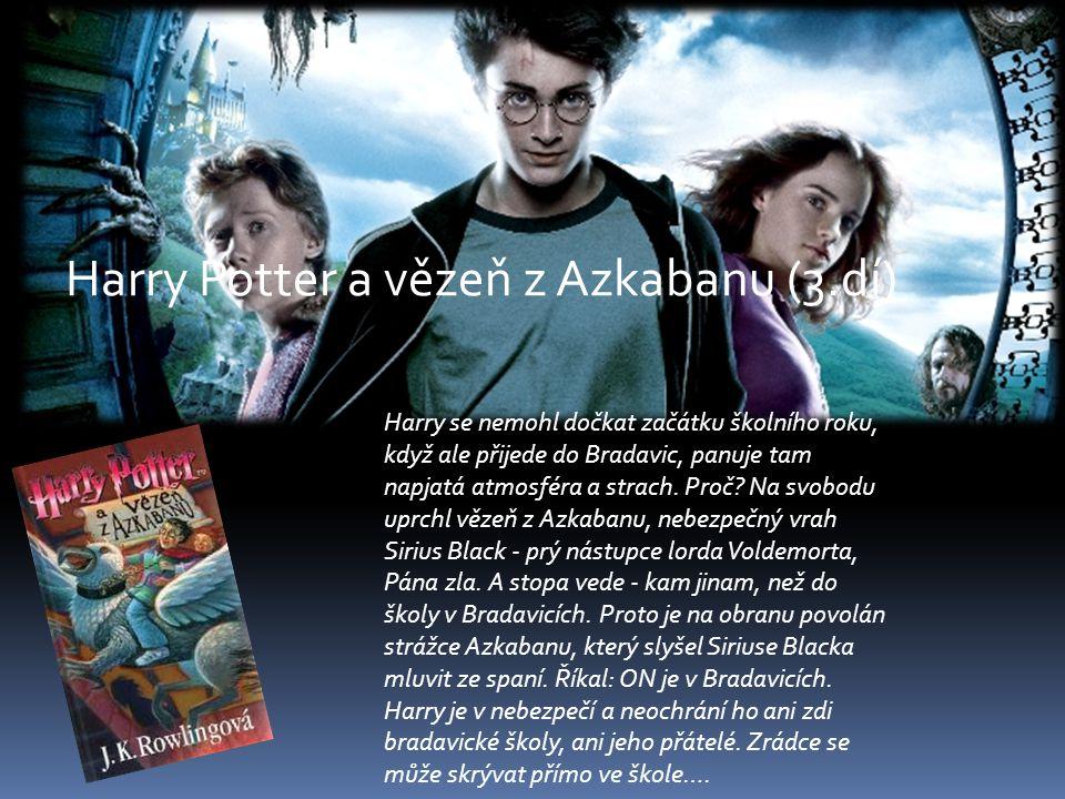 Harry se nemohl dočkat začátku školního roku, když ale přijede do Bradavic, panuje tam napjatá atmosféra a strach. Proč? Na svobodu uprchl vězeň z Azk