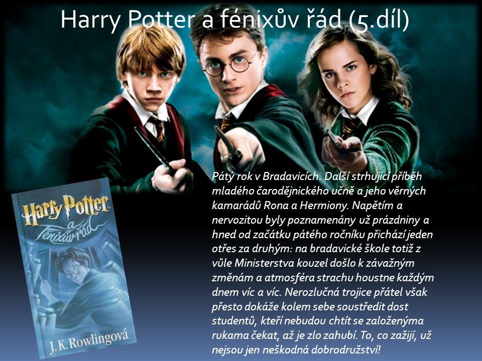 Pátý rok v Bradavicích. Další strhující příběh mladého čarodějnického učně a jeho věrných kamarádů Rona a Hermiony. Napětím a nervozitou byly poznamen