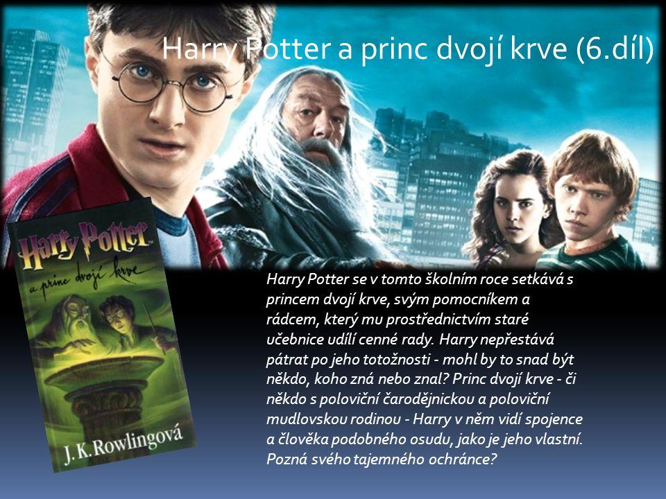 Harry Potter se v tomto školním roce setkává s princem dvojí krve, svým pomocníkem a rádcem, který mu prostřednictvím staré učebnice udílí cenné rady.