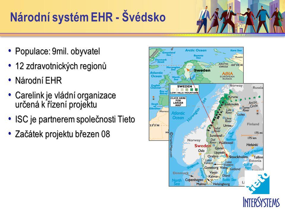 Národní systém EHR - Švédsko • Populace: 9mil.