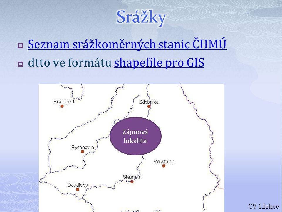 CV 1.lekce Nápověda k použití v ArcGIS: http://resources.arcgis.com/search/index.cfmhttp://resources.arcgis.com/search/index.cfm