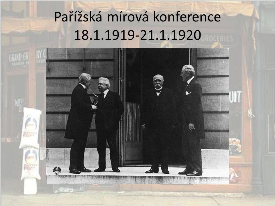 Pařížská mírová konference 18.1.1919-21.1.1920
