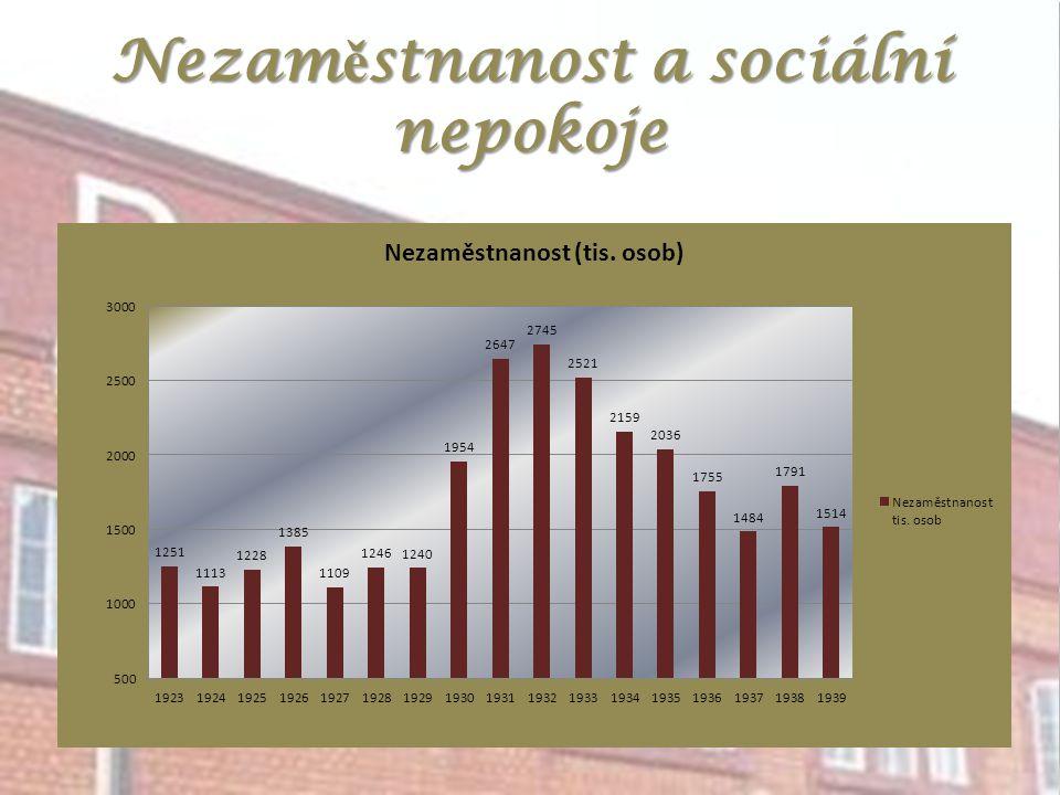 Nezam ě stnanost a sociální nepokoje
