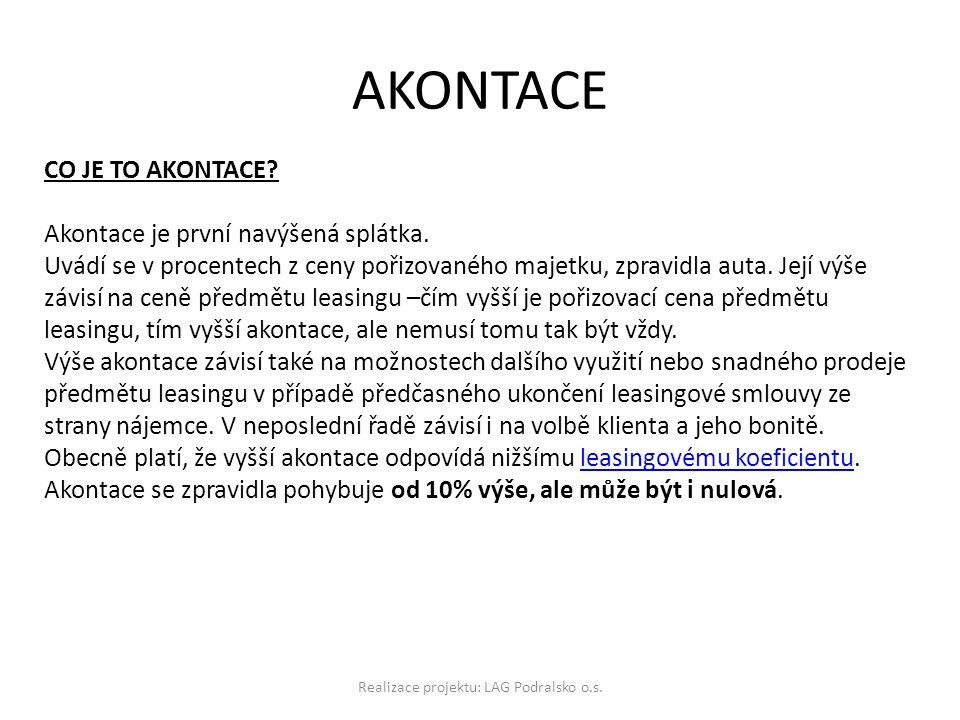 AKONTACE Realizace projektu: LAG Podralsko o.s.CO JE TO AKONTACE.