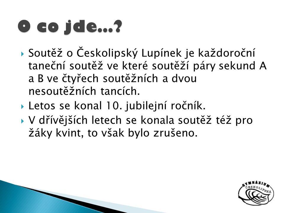  Soutěž o Českolipský Lupínek je každoroční taneční soutěž ve které soutěží páry sekund A a B ve čtyřech soutěžních a dvou nesoutěžních tancích.  Le