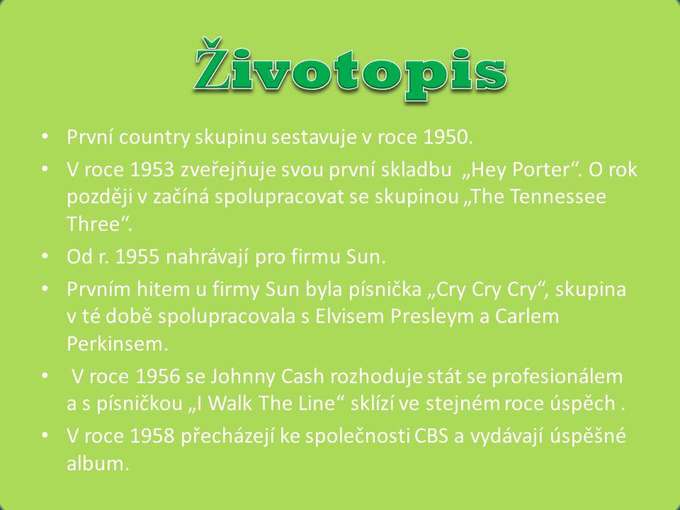 • První country skupinu sestavuje v roce 1950.