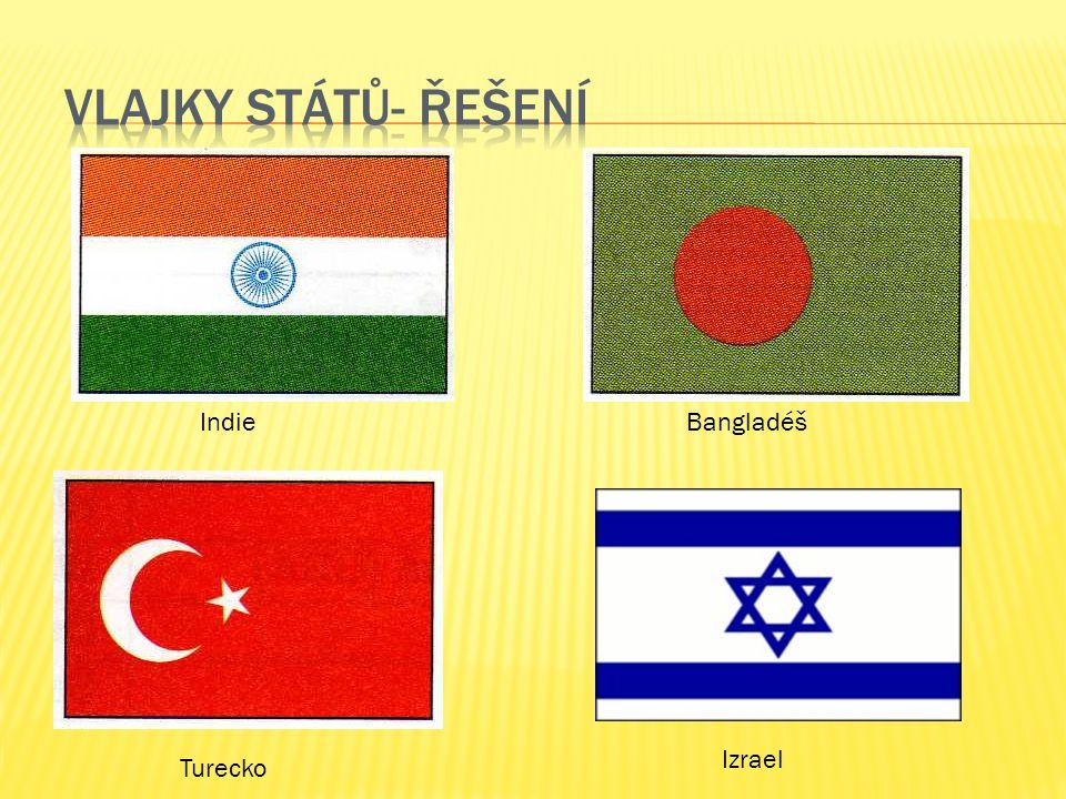 Izrael IndieBangladéš Turecko