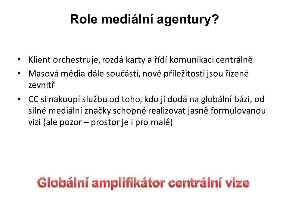 Role mediální agentury.