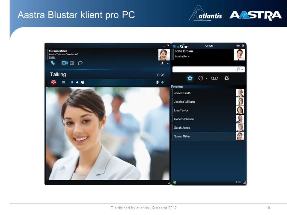 Aastra Blustar klient pro PC Distributed by atlantis | © Aastra
