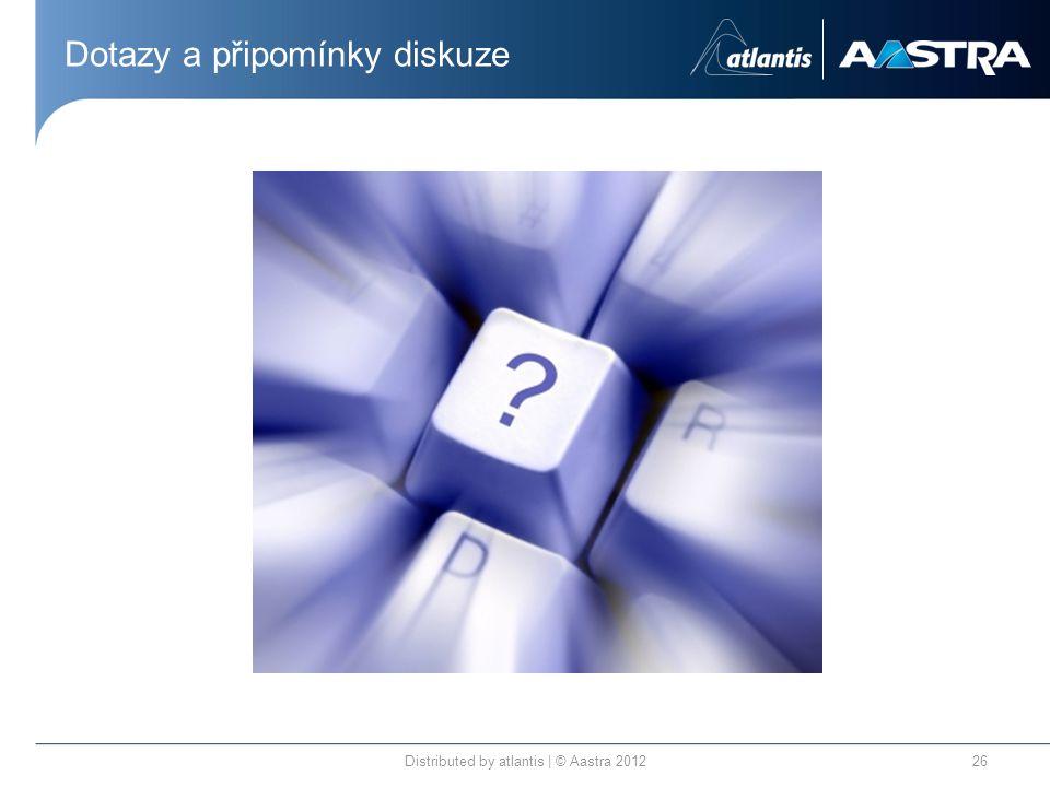 Dotazy a připomínky diskuze Distributed by atlantis | © Aastra 201226