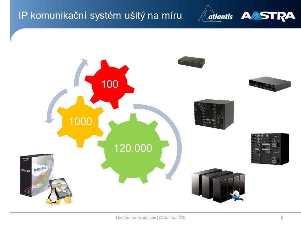 IP komunikační systém ušitý na míru Distributed by atlantis | © Aastra 20126 120.000 1000 100
