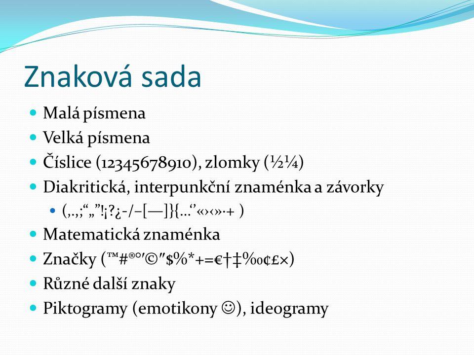 Patkové a bezpatkové písmo http://www.gngcreative.com/newsletters/images/serif-sansserif.jpg