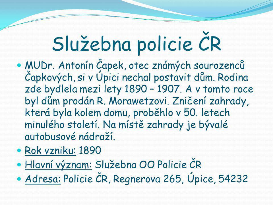 Služebna policie ČR  MUDr.