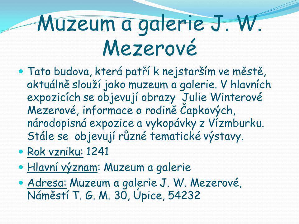 Muzeum a galerie J. W.