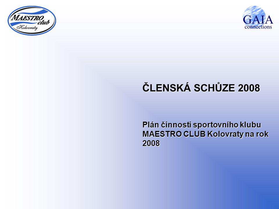 ČLENSKÁ SCHŮZE 2008 Plán činnosti sportovního klubu MAESTRO CLUB Kolovraty na rok 2008